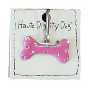 Dog Tags   Bone Dog Tag by Haute Diggity Dog   Pink with
