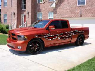 CAR VINYL GRAPHICS BODY FLAME DECAL FORD RAM F150 058 1
