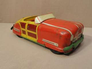 WYANDOTTE TOYS VINTAGE WOODY COVERTIBLE CAR WY 650 PRESSED STEEL VTG
