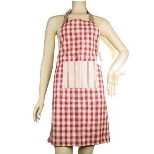 with red stripe accent CHILD size French country apron Home & Kitchen