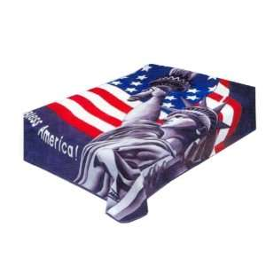 BRAND NEW KING GOD BLESS AMERICA USA FLAG SOLARON KOREAN