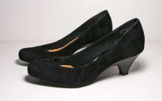 Love Comfort Brand Womens Shoes Dress Pumps Heels Black Suede 8 1/2