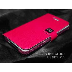 Pink Faux Leather Snakeskin iDiary Case Cell Phones & Accessories