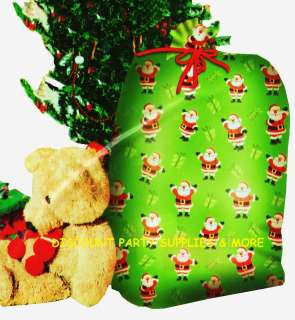 Christmas Santa Clause Presents Green Giant Gift Bag Sack Tote