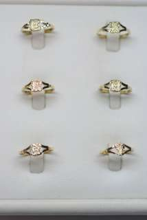 10K Gold Ladies Intial Pinky Rings size 4 1/2   5