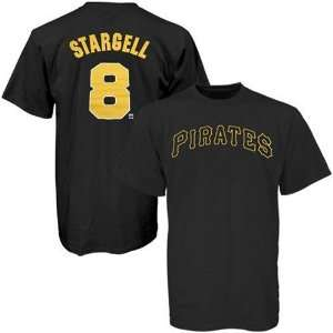 Pittsburgh Pirates Willie Stargell Black Name and Number Jersey Tshirt