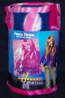 Disneys HANNAH MONTANA Miley CYRUS New Pop Fleece Throw