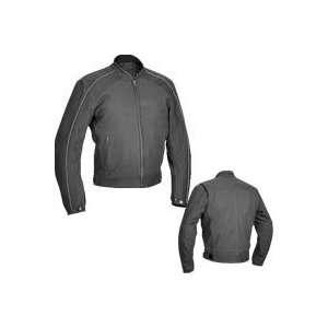 River Road Anvil Perforated Matte Black Jacket 52
