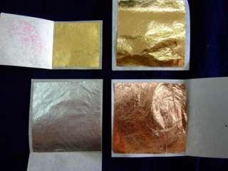 200 Silver Gold Copper Mimic Brass Leaf Sheet +Kit Tool
