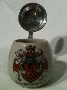 German Lidded Beer Stein Rothenburg o.d.T. |