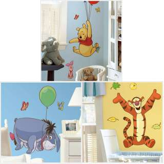 DISNEY WINNIE POOH set of 4 Wall Sticker Decal Murals