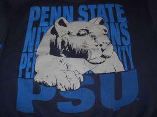 vintage 90S PENN STATE NITTANY LIONS DARK BLUE MENS SWEATSHIRT XL