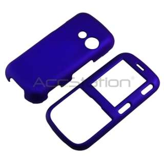 Black+Dark Blue Snap on Rubber Coated Hard Phone Case Cover For LG