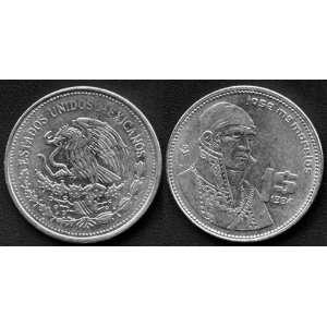 1984 Mexico One Peso Coin, Uncirculated Condition