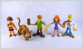 5psc Scooby Doo Dog Shaggy Auction Figures Child Toy SDD03