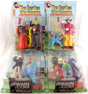 Beatles Yellow Submarine Sgt Peppers Lonely Hearts Club 4 Figure Set