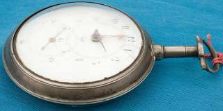ANTIQUE SILVER PAIR CASE DOCTORS DIAL VERGE FUSEE POCKET WATCH TICKS