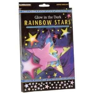 Glow in the Dark Rainbow Stars Toys & Games