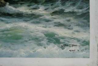 Original Oil painting landscape artseascape20X28