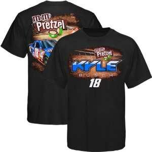 #18 Kyle Busch Black Pretzel T shirt (Small) Sports