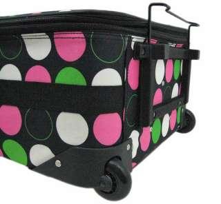 Scratch and Dent` 3 Piece MultiColor Large Polka Dot Suitcase Set