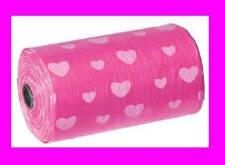 Pet Dog Waste Bags   9 Rolls of Bags (180 Bags) Pink