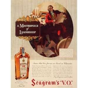 1936 Ad Seagrams V.O. Whiskey Whisky Thomas Jefferson
