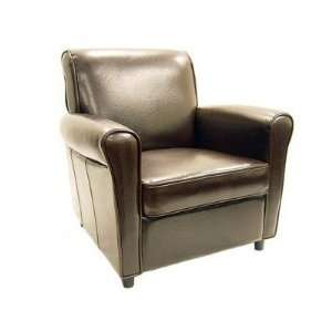 75 Brown Full Leather Club Chair Interiors Furniture Full Leather Club