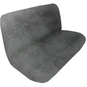 Synthetic Sheep Skin Bench / Rear Seat Cover   Silver Automotive