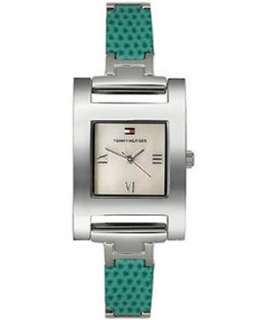 Tommy Hilfiger 1780372 Fast Ship Ladies watch GREEN Leather strap