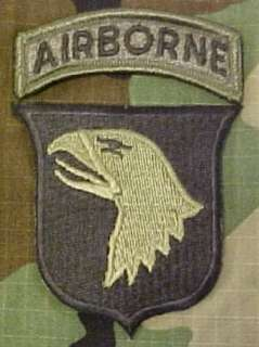 101st Airborne Patch Subdued with Airborne Tab: Clothing