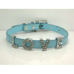 Extra Small Baby Blue Swarovski Grade Crystal Collar for Cat/dog with