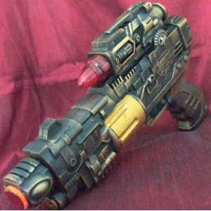Steampunk gun Victorian laser light and sound Zombie Fall Out Halo toy