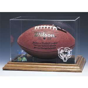 Chicago Bears NFL Football Display Case (Wood Base