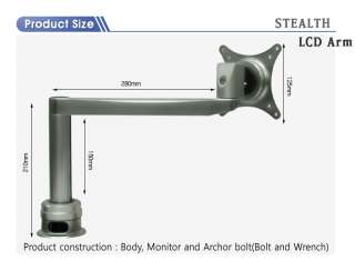 Single Monitor Arm Stand K1000 Hole type/Silver ~25