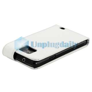 Leather Case+Privacy LCD Film+2x Charger For Samsung Galaxy S II i9100