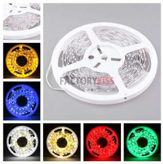 Colors 1M 5M 600 LED 3528 SMD Car Motorcycle Home DIY Strip Light