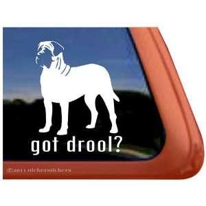 Got Drool? English Mastiff Vinyl Window Dog Decal Sticker