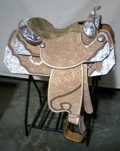 Tex Tan Hand Tooled Show Saddle 16 Seat Ultra Lite Demo model!