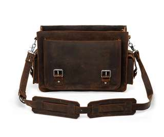 Leather Briefcase Messenger Laptop Bag Satchel Attache Large 16 New
