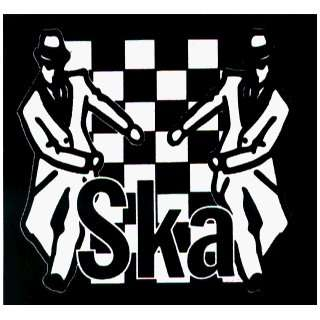 with Logo and Ska Checkers   Sticker / Decal (Rude Boys) Automotive