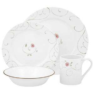 16 pc CORELLE ENCHANTED DINNERWARE SET PINK FLORAL *NEW