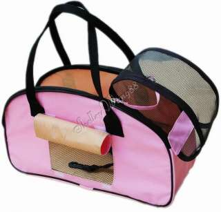 New Fashion Pink Comfort Carrier Large Pet Dog Soft Travel Tote
