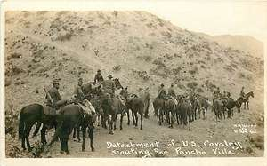 Mexico, Detachment of US Cavalry Scouting for Pancho Villa Real Photo