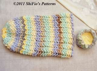 Crochet Baby Papoose Pattern Free : BABY COCOON PAPOOSE CROCHET PATTERN #223 by ShiFios Patterns