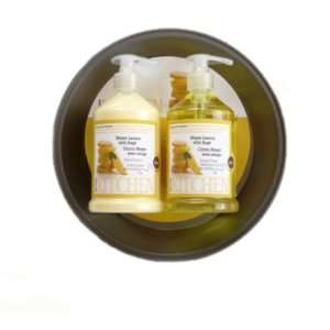 Upper Canada Soap & Candle Kitchen Pie Plate Gift Set with Hand Wash
