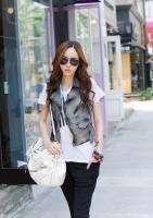 New Korean White Women Tassel PU Leather Satchel Handbag Shoulder Bag