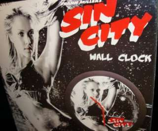WALL CLOCK JESSICA ALBA BAR DANCE OUTFIT NECA NEW MARVS PAL