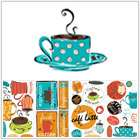 Cafe Coffee Java Kitchen Wall Decals Removable Bright Colors FUN NEW