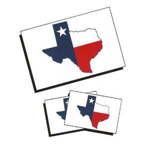 Texas Shaped Flag Temporary Tattoos Toys & Games